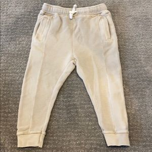 Zara Leggings Pants - KHAKI RIBBED